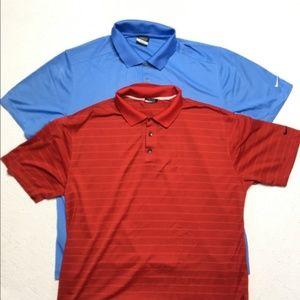 Nike Golf Dr Fit Polo Shirt Bundle Lot of 2